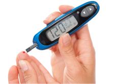 Измерение сахара в крови глюкометром