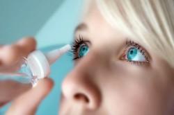 Нанесение глазных капель до исследований